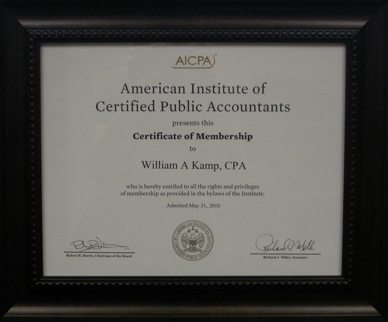 Mesa Az Cpa Firm Meet William A Kamp Page William A Kamp Cpa Ea
